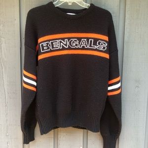 Vtg Cliff Engle Wool Bengals sweater